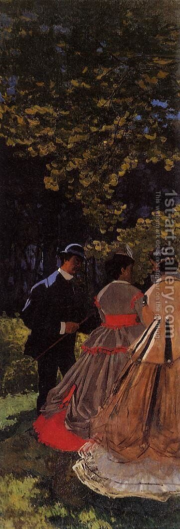 Luncheon on the Grass, Left Panel by Claude Oscar Monet - Reproduction Oil Painting