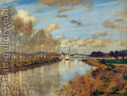 Argenteuil, Seen from the Small Arm of the Seine by Claude Oscar Monet - Reproduction Oil Painting