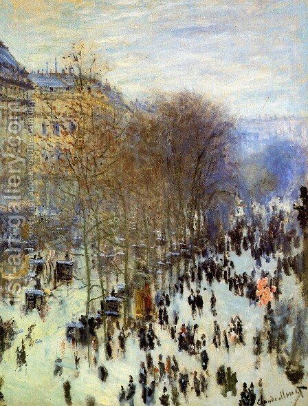 Boulevard des Capucines 3 by Claude Oscar Monet - Reproduction Oil Painting