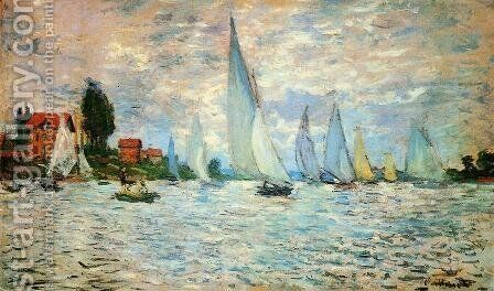 Regatta at Argenteuil I by Claude Oscar Monet - Reproduction Oil Painting