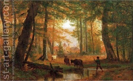 Crossing the Stream by Andrew Melrose - Reproduction Oil Painting
