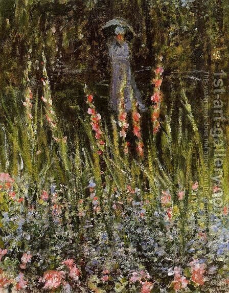 The Garden, Gladioli by Claude Oscar Monet - Reproduction Oil Painting