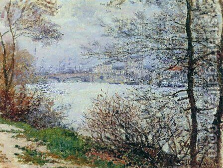 The Banks of the Seine, Ile de la Grande-Jatte by Claude Oscar Monet - Reproduction Oil Painting