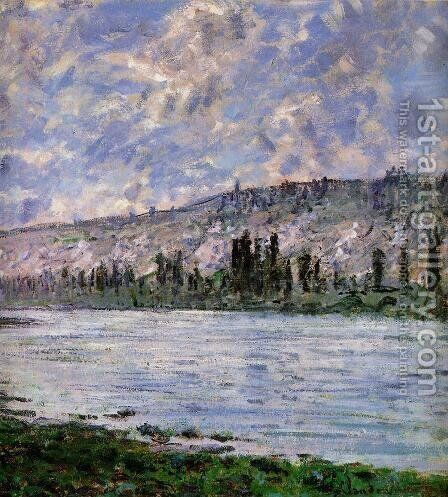The Seine at Vetheuil (detail) by Claude Oscar Monet - Reproduction Oil Painting