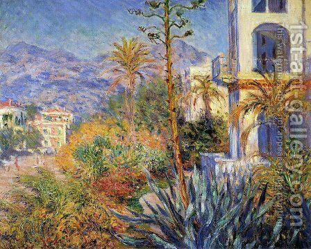Villas in Bordighera by Claude Oscar Monet - Reproduction Oil Painting