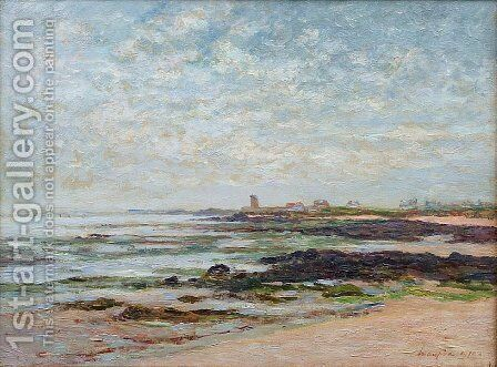 Low Tide, Baie de Quiberon by Maxime Maufra - Reproduction Oil Painting