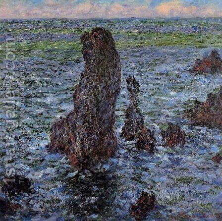 The 'Pyramids' at Port-Coton by Claude Oscar Monet - Reproduction Oil Painting