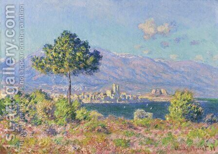 View of Antibes from the Plateau Notre-Dame by Claude Oscar Monet - Reproduction Oil Painting