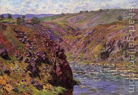 Valley of the Creuse, Sunlight Effect by Claude Oscar Monet - Reproduction Oil Painting