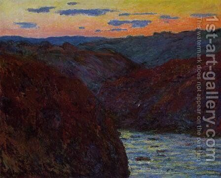 Valley of the Creuse, Sunset by Claude Oscar Monet - Reproduction Oil Painting