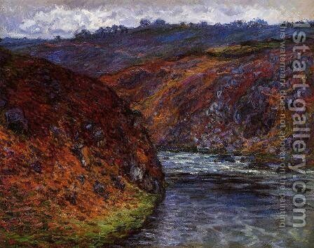 Valley of the Creuse, Grey Day by Claude Oscar Monet - Reproduction Oil Painting