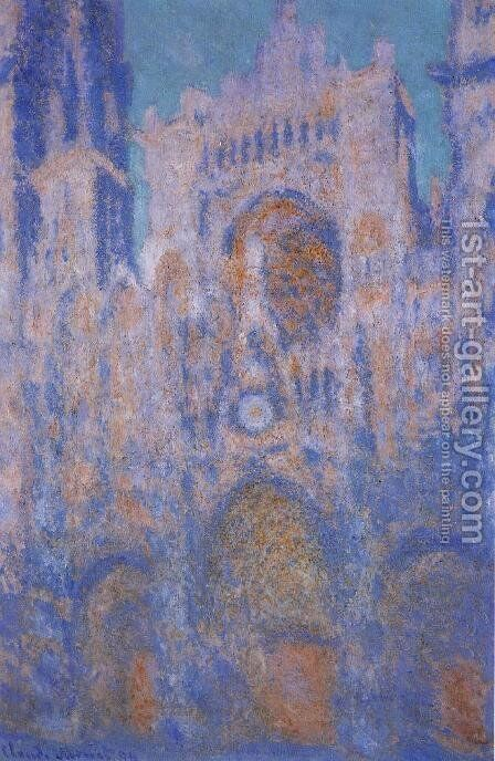 Rouen Cathedral, Symphony in Grey and Rose by Claude Oscar Monet - Reproduction Oil Painting