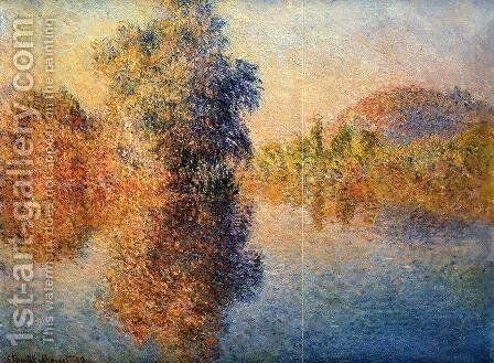 Morning on the Seine 3 by Claude Oscar Monet - Reproduction Oil Painting