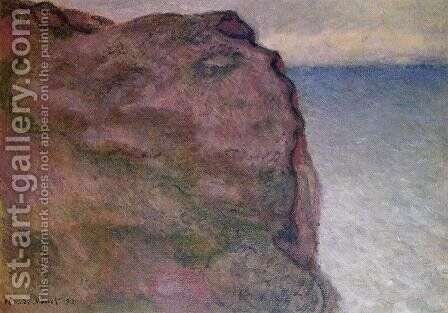 Cliff at Petit Ailly, at Varengeville by Claude Oscar Monet - Reproduction Oil Painting