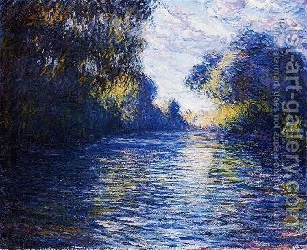 Morning on the Seine IV by Claude Oscar Monet - Reproduction Oil Painting