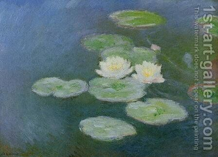Water-Lilies, Evening Effect by Claude Oscar Monet - Reproduction Oil Painting