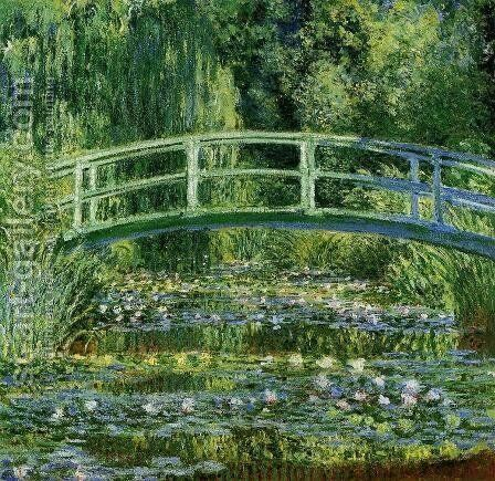 Water-Lily Pond II by Claude Oscar Monet - Reproduction Oil Painting