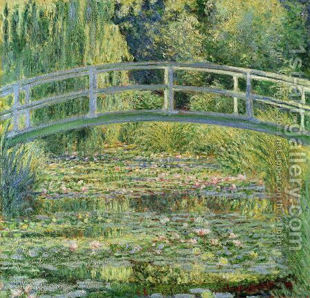 Water-Lily Pond I by Claude Oscar Monet - Reproduction Oil Painting