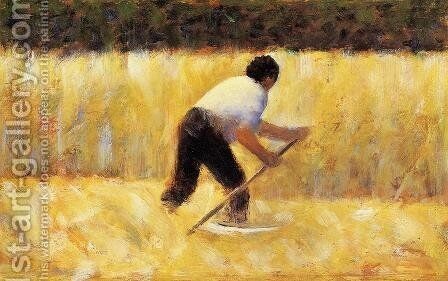 The Mower by Georges Seurat - Reproduction Oil Painting