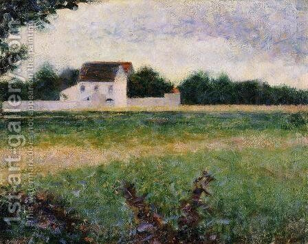 Landscape of the Ile de France by Georges Seurat - Reproduction Oil Painting