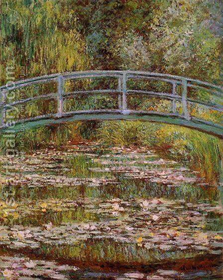 The Water-Lily Pond 2 by Claude Oscar Monet - Reproduction Oil Painting