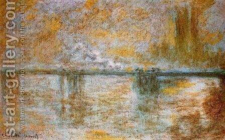 Charing Cross Bridge III by Claude Oscar Monet - Reproduction Oil Painting