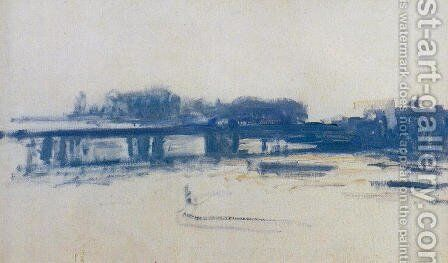 Charing Cross Bridge (study) by Claude Oscar Monet - Reproduction Oil Painting
