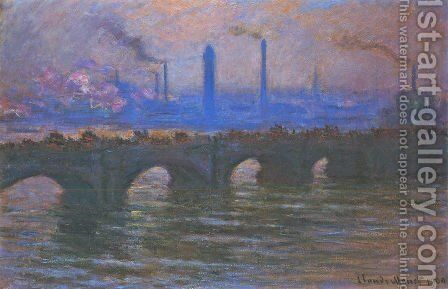 Waterloo Bridge, Misty Morning by Claude Oscar Monet - Reproduction Oil Painting