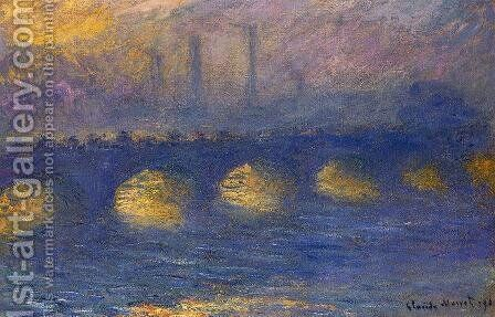 Waterloo Bridge, Overcast Weather II by Claude Oscar Monet - Reproduction Oil Painting