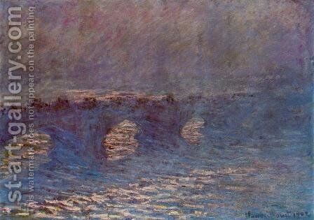Waterloo Bridge, Effect of Sun in the Mist by Claude Oscar Monet - Reproduction Oil Painting