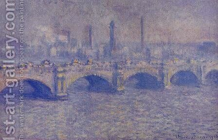 Waterloo Bridge, Sunlight Effect II by Claude Oscar Monet - Reproduction Oil Painting