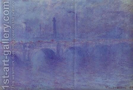 Waterloo Bridge, Fog Effect by Claude Oscar Monet - Reproduction Oil Painting