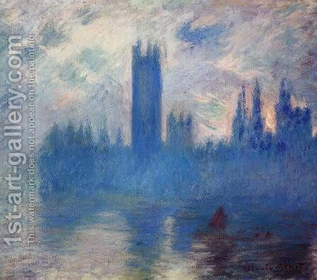 Houses of Parliament, Westminster by Claude Oscar Monet - Reproduction Oil Painting