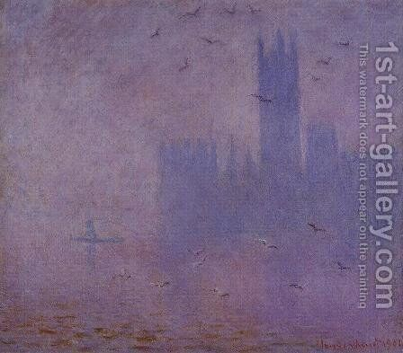 Houses of Parliament, Seagulls I by Claude Oscar Monet - Reproduction Oil Painting