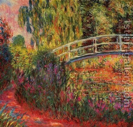 Water-Lily Pond, Water Irises by Claude Oscar Monet - Reproduction Oil Painting