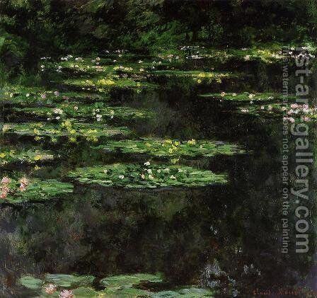 Water-Lilies V by Claude Oscar Monet - Reproduction Oil Painting
