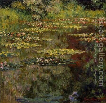 Water-Lilies VII by Claude Oscar Monet - Reproduction Oil Painting
