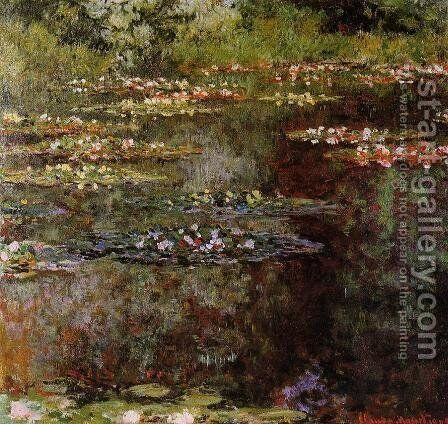 Water-Lilies VIII by Claude Oscar Monet - Reproduction Oil Painting