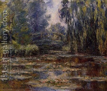 The Water-Lily Pond and Bridge 2 by Claude Oscar Monet - Reproduction Oil Painting