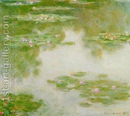 Water-Lilies 3 by Claude Oscar Monet - Reproduction Oil Painting