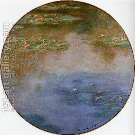 Water-Lilies 5 by Claude Oscar Monet - Reproduction Oil Painting