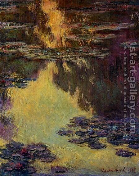 Water-Lilies 8 by Claude Oscar Monet - Reproduction Oil Painting
