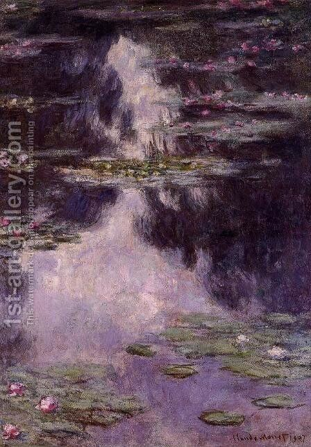 Water-Lilies 10 by Claude Oscar Monet - Reproduction Oil Painting