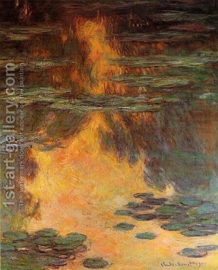 Water-Lilies 11 by Claude Oscar Monet - Reproduction Oil Painting