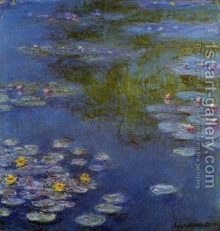 Water-Lilies 17 by Claude Oscar Monet - Reproduction Oil Painting