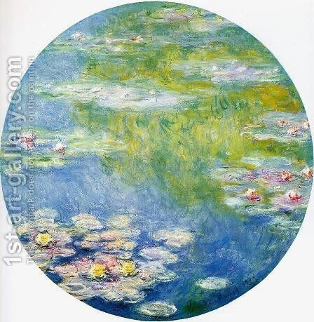 Water-Lilies 18 by Claude Oscar Monet - Reproduction Oil Painting