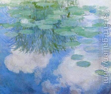 Water-Lilies 24 by Claude Oscar Monet - Reproduction Oil Painting