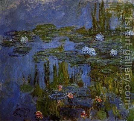Water-Lilies 28 by Claude Oscar Monet - Reproduction Oil Painting
