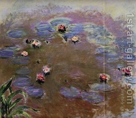 Water-Lilies (detail) by Claude Oscar Monet - Reproduction Oil Painting