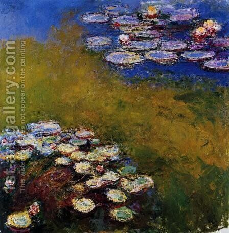 Water-Lilies 32 by Claude Oscar Monet - Reproduction Oil Painting